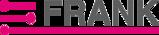 Logo aus grauem Schriftzug FRANK und pinken Akzenten